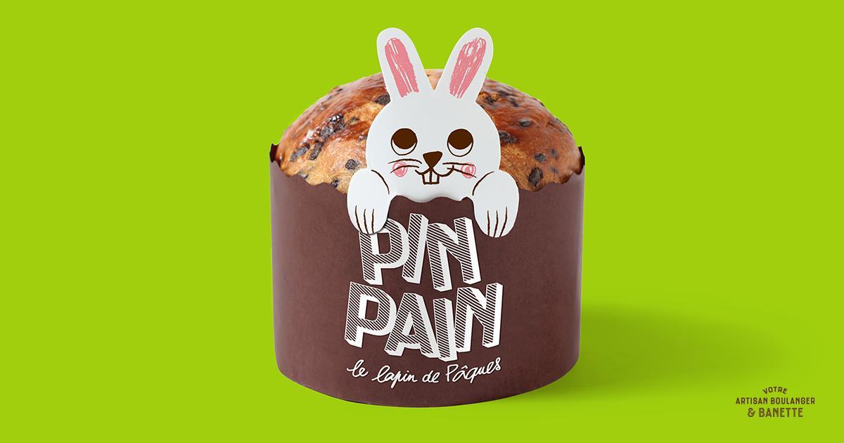 Pin Pain Le Lapin